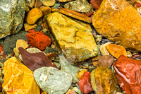 Colorful river rock