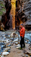 Bob photographing the narrows