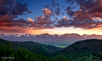 Sunset over the Gore Range- Lower Blue Valley